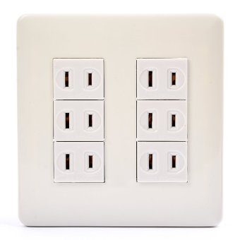 SURER NO.1380-D 6-Outlet with Plate with FREE Utility Box