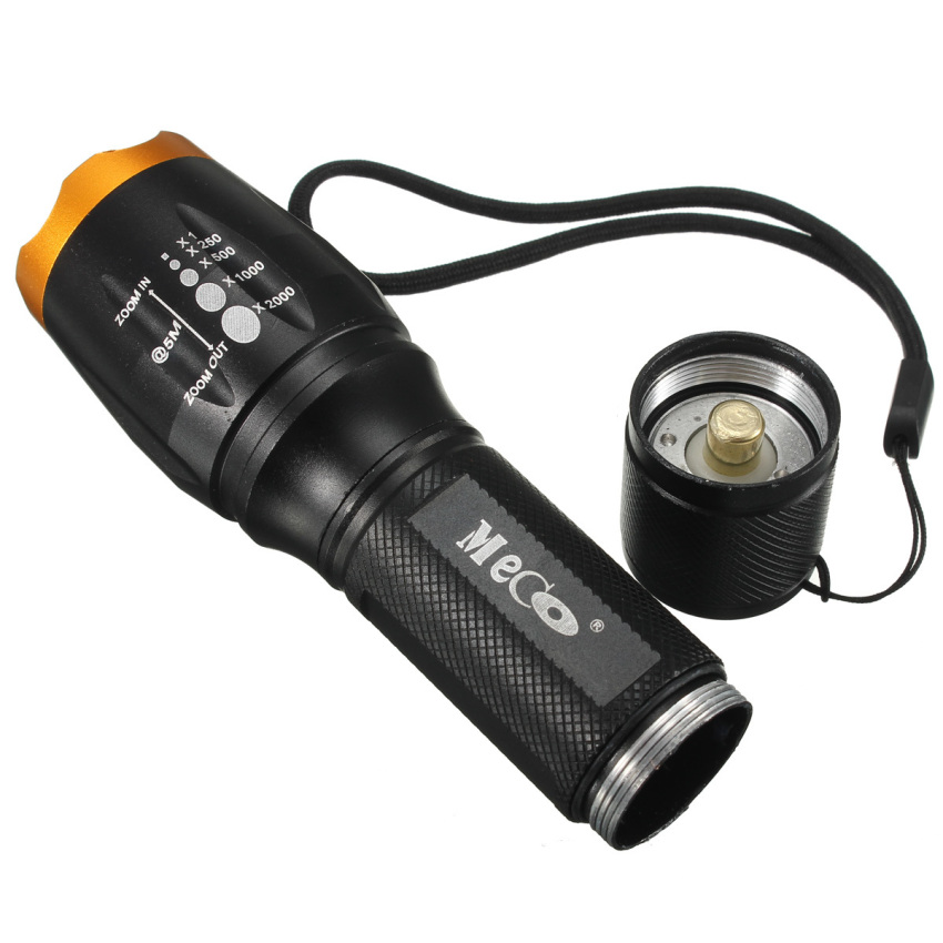 Tactical 2600Lm Zoomable XM-L T6 LED 18650 Flashlight Torch Lamp Light