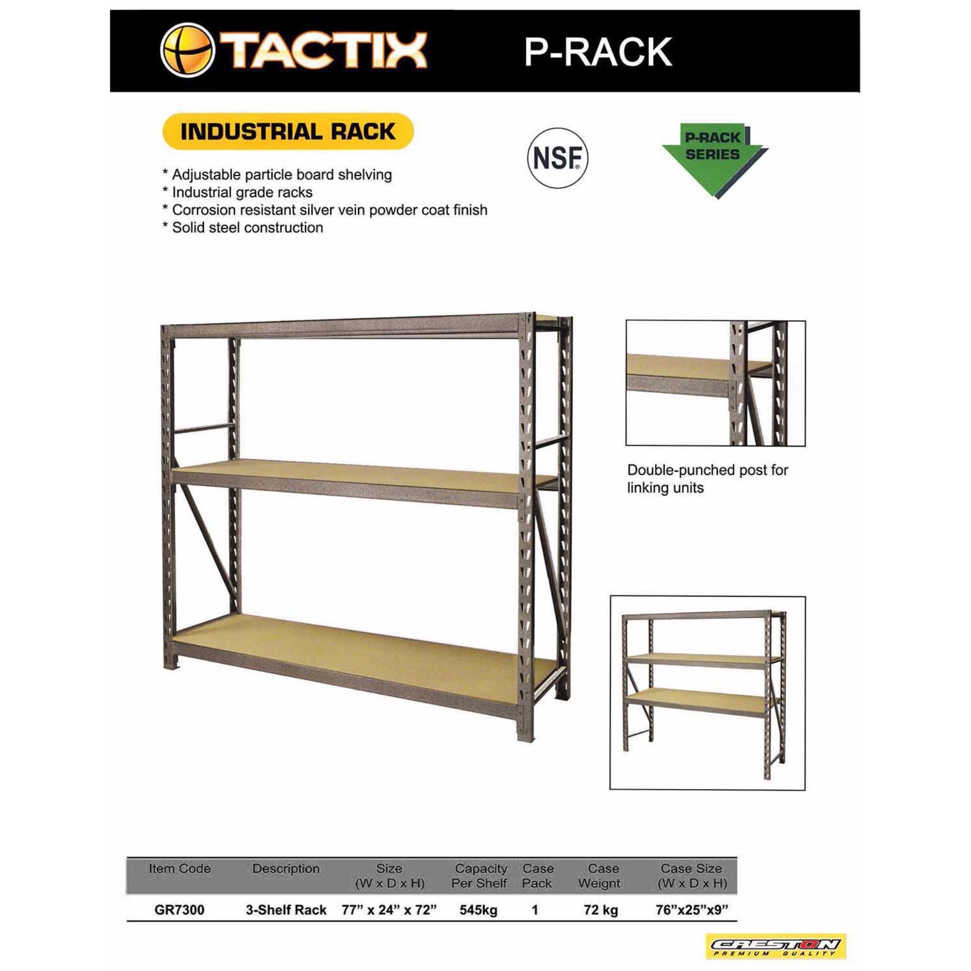 Tactix Industrial Storage Rack P-Rack Series 3 Shelves Rack (77  sc 1 st  9price.info & Philippines | Tactix Industrial Storage Rack P-Rack Series 3 Shelves ...