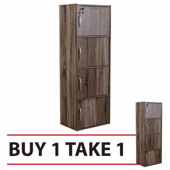 Tailee Furniture ST-400BDF 4-Layer Utility Cabinet Organizer w/Door and Lock, BUY 1 TAKE 1 FREE