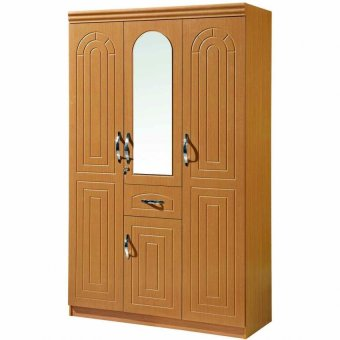 Tailee Furniture WD-322 3-Door w/ Drawer and MirrorMulti-functional Wardrobe / Cabinet (Rosewood)