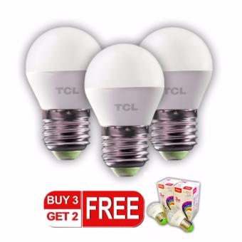 TCL 3W Daylight EcoSeries Bulb Set of 3 with FREE 2 Bulb