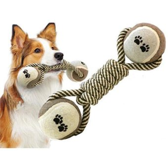 Tennis Hand-Woven Cotton Rope Dog Toys - intl