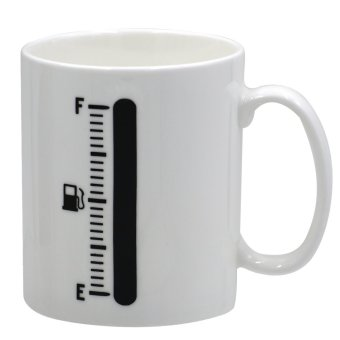 The Coffee Cup that Perks Up Tank Up Changing Mug (White)