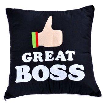 The Great Boss Pillow (Black)