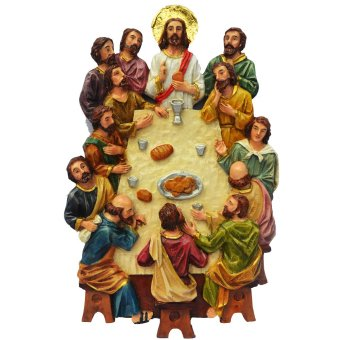 The Last Supper 3D (Jesus Christ with the 12 apostles) Plaque /Wall decor (Made of Fiberglass Resin) Religious Item by EverythingAbout Santa (Christmas decoration and Gift suggestion)