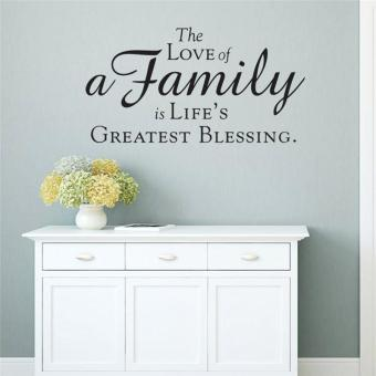 The Love of a Family Is Life's Createst Blessing Quotes Home DecorLiving Room Decals Bedroom Wall Stickers Vinyl Mural Art WallpaperPosters - intl
