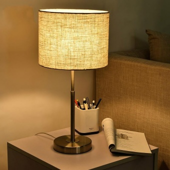The Nordic Modern Minimalist Bedroom Bedside Lamp Table Lamp WarmLight Creative Wedding Lamp Home Decoration Desk Lamp 24*49.5cm(Energy Class A++) - intl