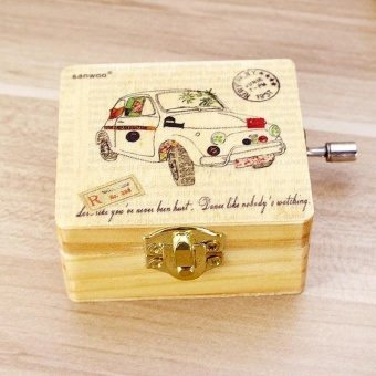 The Retro Wooden Machine, Music Box, Brings The Kids A Music BoxWith A Random Car Design On Valentine'S Day - intl Price Philippines