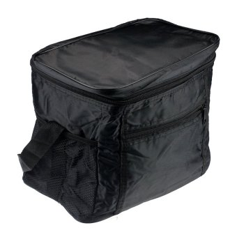 Thermal Cooler Waterproof Insulated Portable Tote Picnic Lunch Bag(Black)