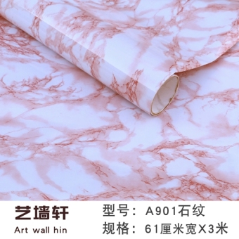 Thick waterproof marble pattern self-adhesive Wallpaper