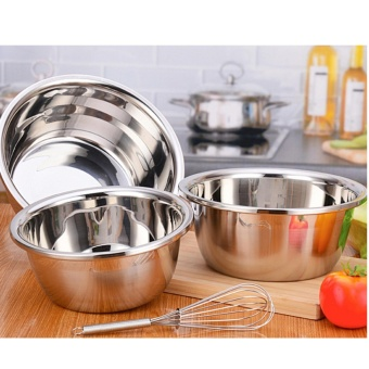 Thickened stainless steel mixing bowl 22 cm diameter 1 Piece - intl