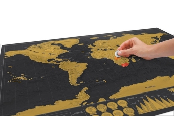 ThinkMax Scratch Off World Map Deluxe Edition Poster Personalized Travel Vacation - intl - 2