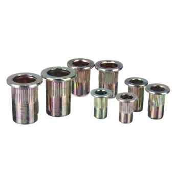 Threaded Carbon Steel Rivet Nut Rivnut Inserts M4. M5. M6. M8. 100 Mixed Pack - 3