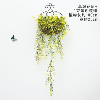 Three-dimensional Model straw baskets artificial flowers