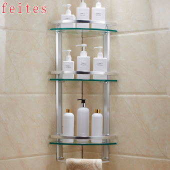 Three Layer bathroom wall hangers bathroom shelf