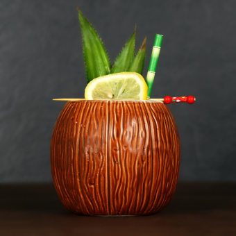 Tiki Lovers coconut style ceramic cup