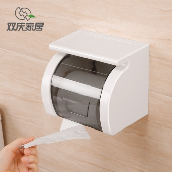 Toilet waterproof roll holder bathroom tissue box