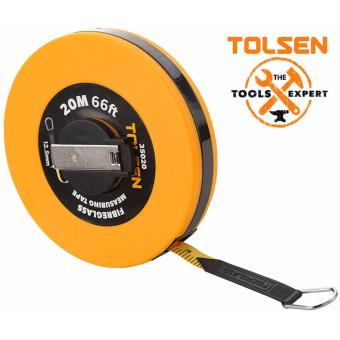Tolsen Fiberglass Measuring Tape (30M) ABS Plastic Case w/ a paltedflush winding handle