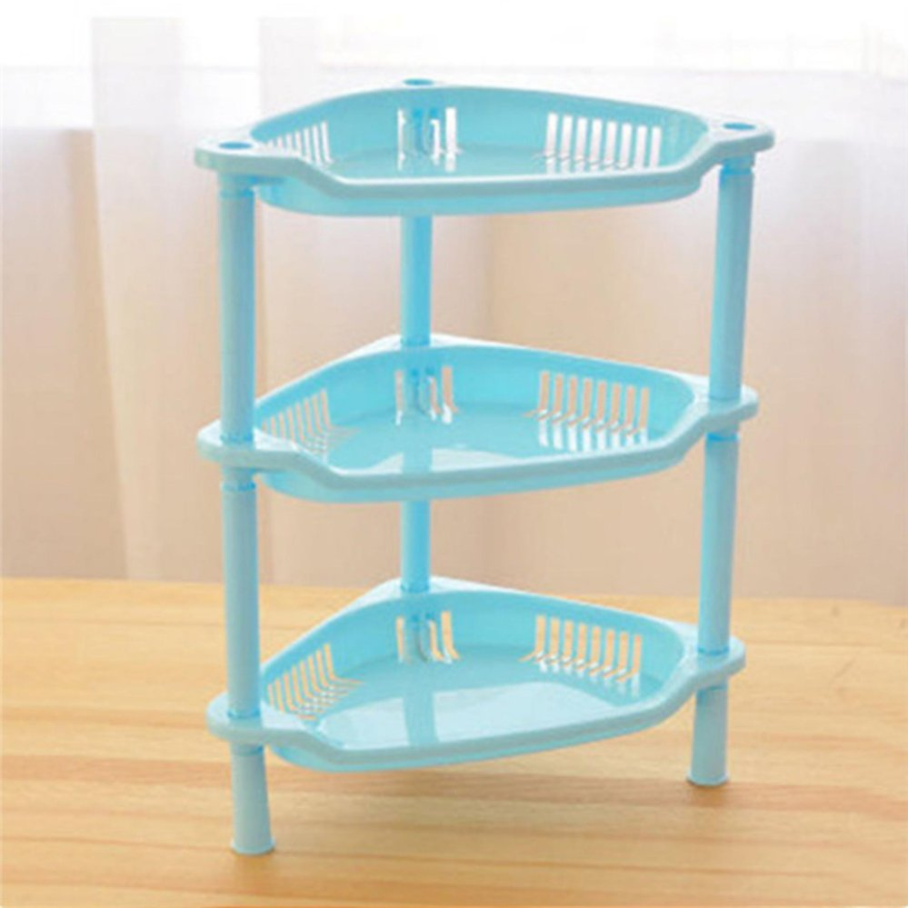 Philippines | TOMSOO 3 Tier Plastic Corner Shelf Organizer Bathroom ...