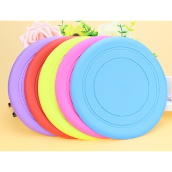 Tooth Resistant Silicone Pet Dog Frisbee Flying Disc Outdoor DogTraining Fetch Toy - intl - 2