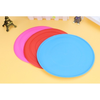 Tooth Resistant Silicone Pet Dog Frisbee Flying Disc Outdoor DogTraining Fetch Toy - intl - 5
