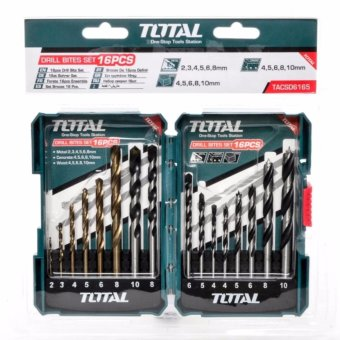 TOTAL Drill Bit Set 16pcs/set for Metal, Concrete And Wood