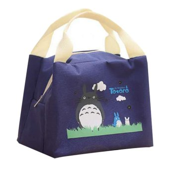 Totoro Lunch Box Storage Bag (Navy Blue) Price Philippines