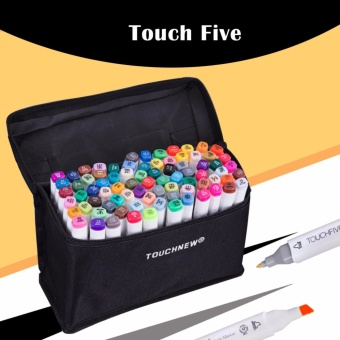 Touch Five Colors Graphic Art Twin Marker Point Tip Pen 36 Colors (White)