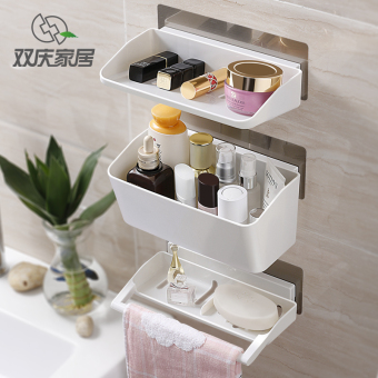 Traceless suction wall-washed Taiwan shelf bathroom shelf
