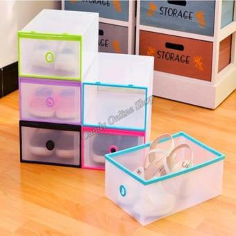 Transparent Clear Plastic Shoe Boxes Foldable