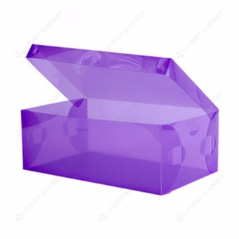 Transparent Shoe Box 28.5 x 10 x 18.5 cm (Purple)