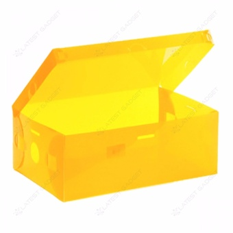 Transparent Shoe Box 28.5 x 10 x 18.5 cm (Yellow)