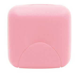 Travel Plastic Soap Box Dish Holder Container Storage Box With LockSmall Size Pink