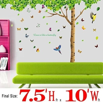 Tree Wall Stickers 310x204cm Extra Large Home Decoration LivingRoom Background TV Sofa Fresh Green Leaves Tree Wall Decal Vinyl - 3