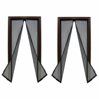 Trendsetter Set of 2-Screen Door Magic Mesh Instant Magnetic DoorCurtain Mosquito Net Removable