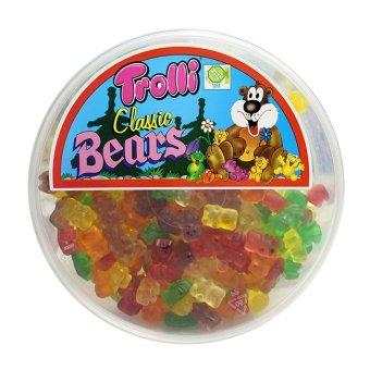 Trolli Classic Bears Gummi Candy with Round Tub 500g (Multicolor)