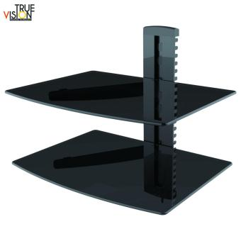 True Vision DVD212 DVD/AV Wall Mount Double Shelf (Black) - 4
