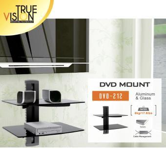 True Vision DVD212 DVD/AV Wall Mount Double Shelf (Black) - 5