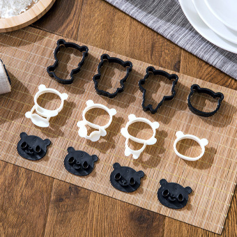 Two-Tone cute PANDA cookie cutter with cookie cutter