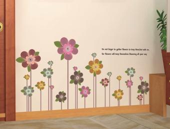 Ufengke UF-WL0229 Colorful Flowers Wall Sticker Multicolor