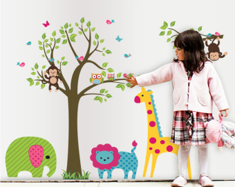 ufengke UF-WL0411 Colorful Tree Wall Sticker Multicolor - picture 2
