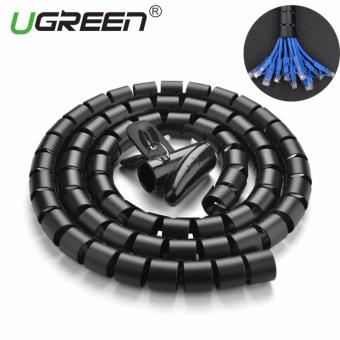 UGREEN PE Cable Organizer Coiled Tube Sleeve Cable Management withCable Clip - 3m - intl