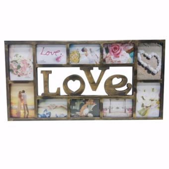 Ultralite Large 10 Picture Photo Frame LOVE Satin Frame