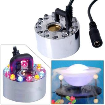 Ultrasonic Maker Mist Fogger Water Fountain Pond 12 LED RGB 400ML/H Fountains (Intl) - Intl