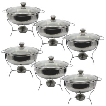 UNIBEST 3L Stainless Steel Round Chafing Dish Set of 6