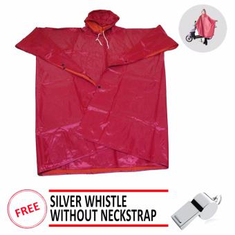 Unisex Adult Poncho Raincoat Rain Protection Gear BicycleMotorcycle Waterproof Gear FREE Whistle