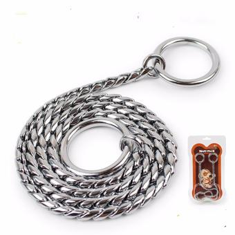 Universal Stainless Steel Adjustable Training Dog Collar SnakeChain(45cm*4.0mm) - intl Price Philippines