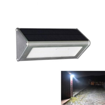Upgraded Radar Motion Sensor 48LEDS 800lm Aluminum Solar Lamp Garden Home Outdoor Wall Light Waterproof Lighting Lights Lamps - intl