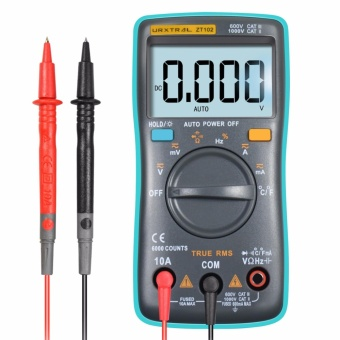 URXTRAL 6000 Counts Auto Ranging Digital Multimeter TRMS Multi Tester with Backlight Measure Temperature AC/DC/OHM/Hz/Temp/Duty Cycle/Continuity Tester - intl